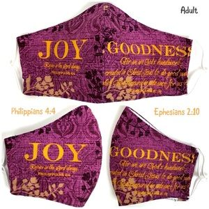 JOY and GOODNESS Adult Face Mask